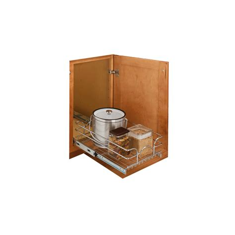 Base Cabinet Pullout by Rev A Shelf Base Cabinet Pullout Single Wire Basket 15inx20in