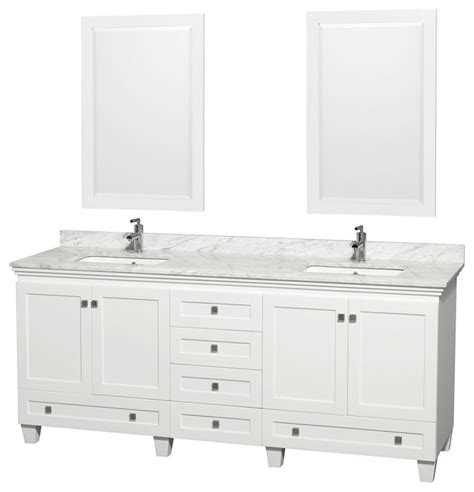 wyndham collection 80 quot acclaim white double vanity with