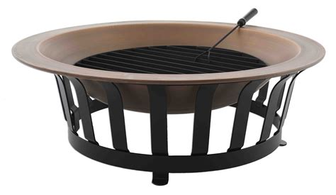 solid copper pit titan 40 quot solid 100 copper pit bowl wood burn patio