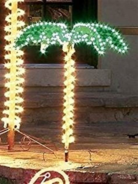 lighted tree yard decorations 4 5 tropical lighted holographic rope light