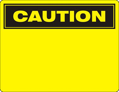 caution sign template operations manuals