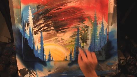 spray painting sky melting sunset sky spray paint by matt sorensen