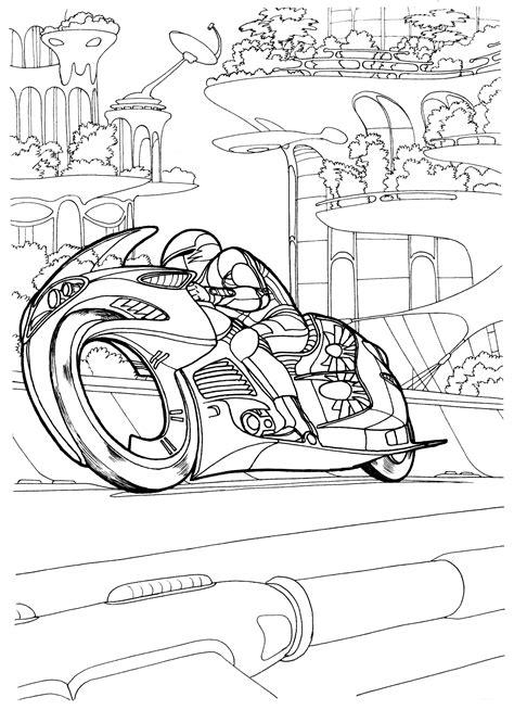 boyama sayfasi bir prototip motosiklet
