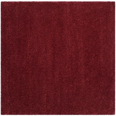 Square Maroon safavieh santa shag maroon 7 ft x 7 ft square