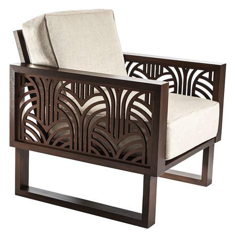 deco lounge chair espresso twist modern