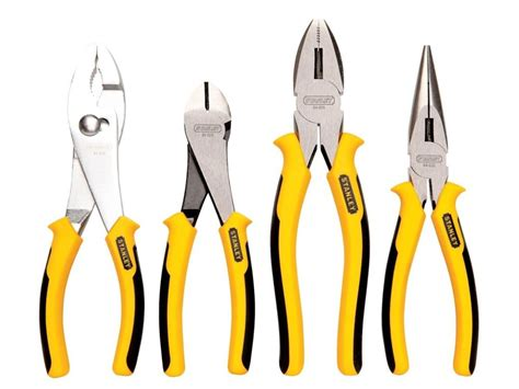 4 piece l set stanley 84 058 4 piece pliers set new ebay