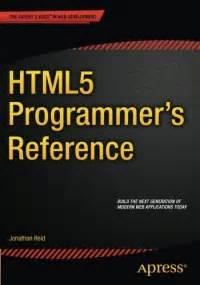 html5 programmer s reference free ebook pdf
