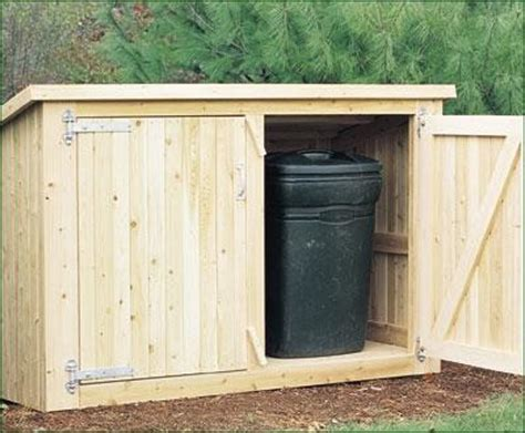 Trash Can Shed Plans by Garbage Can Storage Shed Plans Image Mag