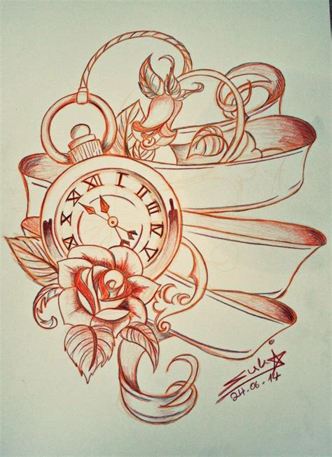 rose and ribbon tattoo pocket with and ribbon design
