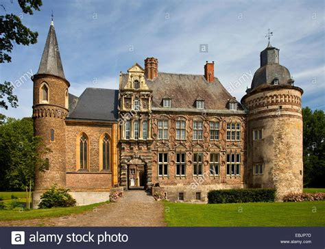 Moated Castle Haus Assen In Lippborg Germany Stock