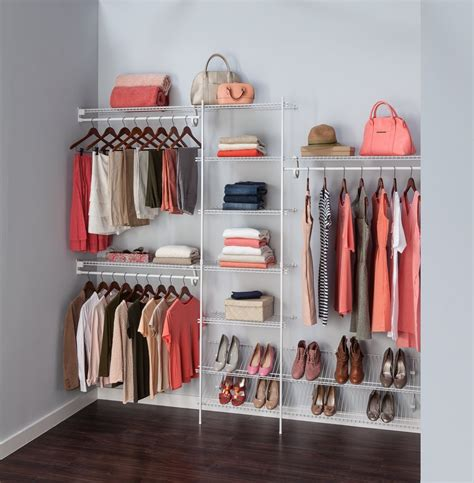 closetmaid  ft  ft fixed mount closet organizer