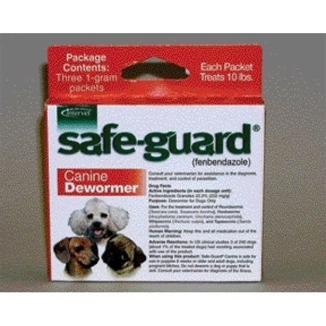 safeguard puppy dewormer safe guard wormer fenbendazole granules products gregrobert