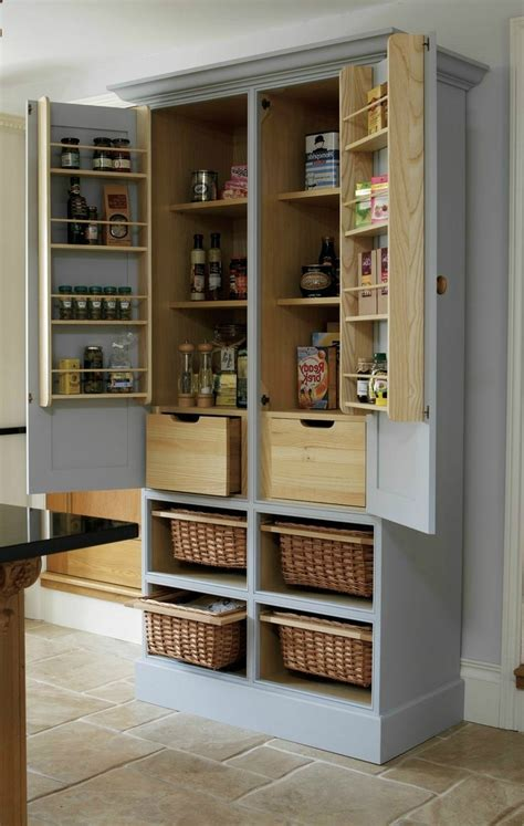 25 best ideas about freestanding pantry cabinet on pantry cabinets to utilize your kitchen custom home design