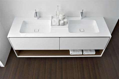 Badezimmer Regal Schubladen by Wei 223 Er Doppelwaschtisch Mit Schubladen Und Regal