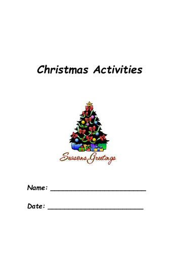 printable christmas activity pack printable christmas puzzles by jkmoss teaching resources