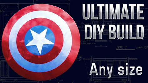 make a make a captain america shield mk1build