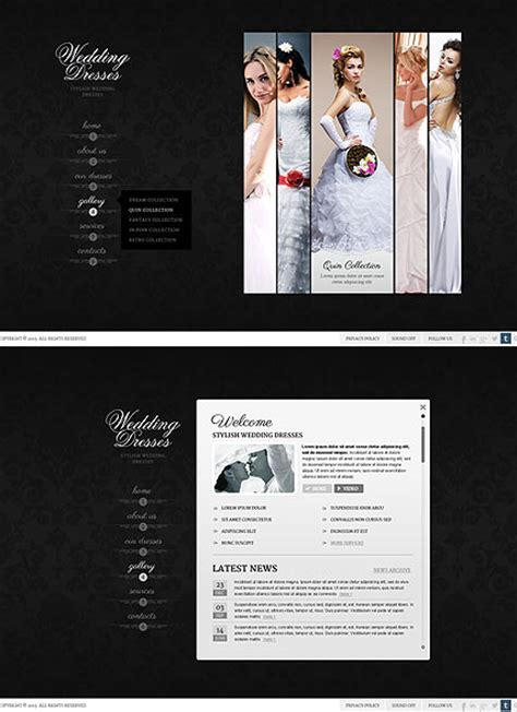 bootstrap templates for wedding wedding dresses html5 template id 300111670 from