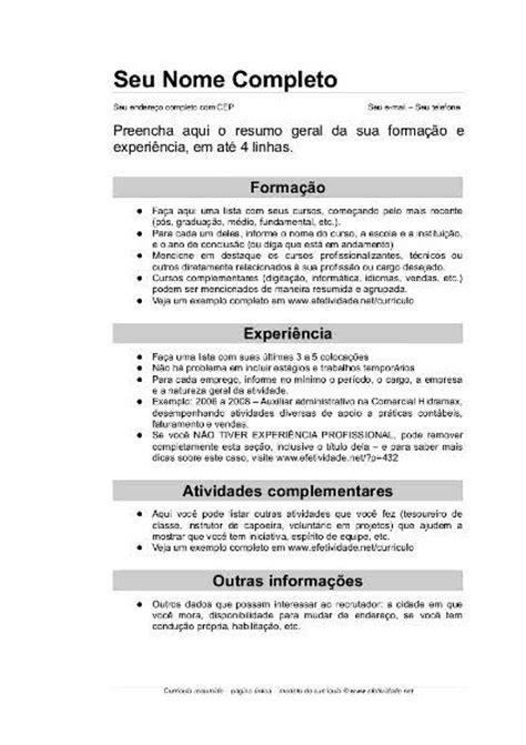Modelo Curriculum España 2018 Molde De Curriculo Simples Madrat Co