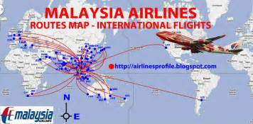 Flight Route Map by Civil Aviation Malaysia Airlines Routes Map