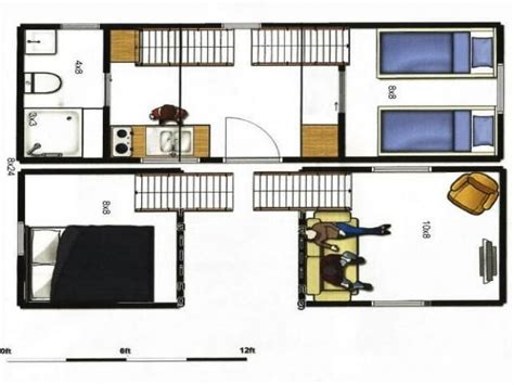 tiny portable home plans 8x24 tiny house plans 8x24 portable tiny house on trailer total of 336 sq ft of floor space