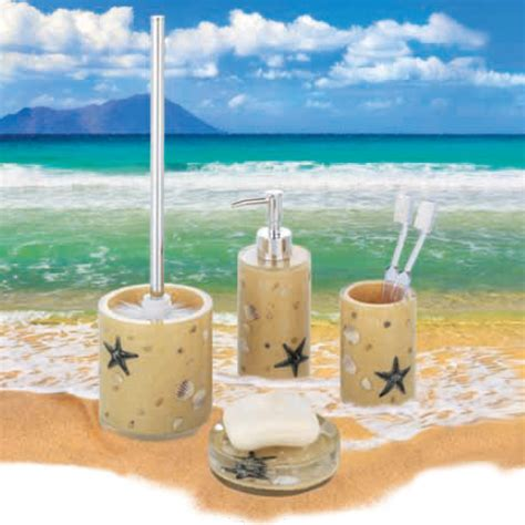 beach bathroom accessories sets wenko beach bathroom accessories set beige at victorian