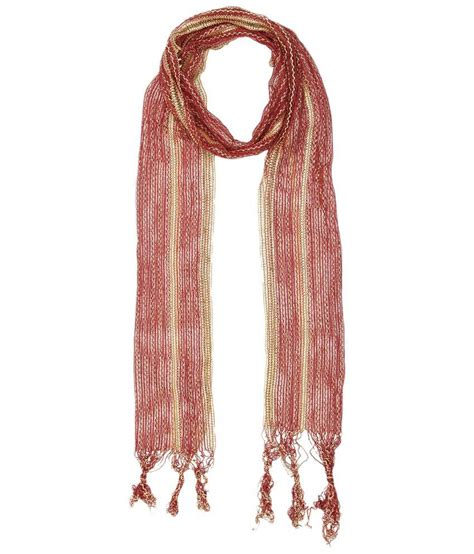 Zigzag Maroon yepme maroon golden zigzag stole buy at low