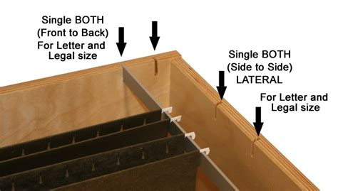 Desk Drawer File Rails by File Hangers Easily Slip Into The Designated Slots They