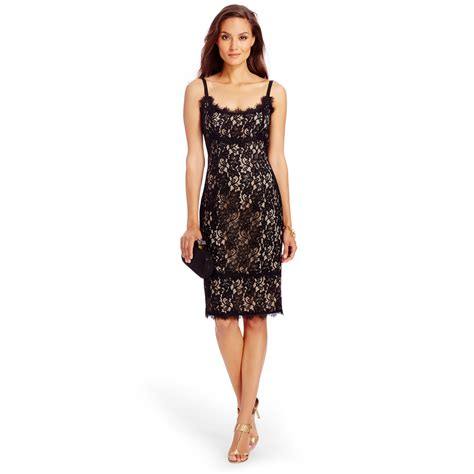 Dvf Dresses by Diane Furstenberg Dvf Lace Dress In Black Lyst