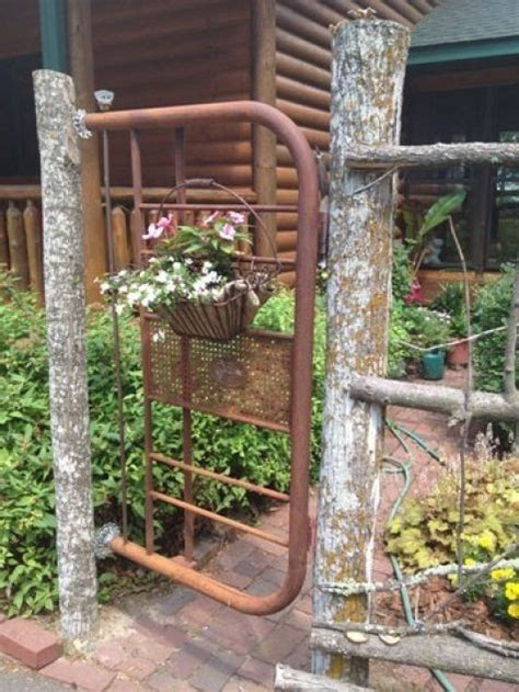 diy metal garden insanely beautiful diy upcycled garden gates that you will