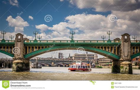 thames river taxi timetable water taxi under blackfrairs bridge editorial image