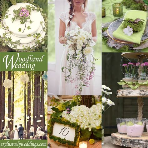 woodland wedding theme exclusivelyweddings weddingcolors wedding color stories