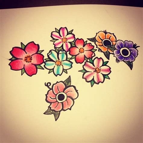 old school flower tattoo designs different cherry blossom tattoos tree tattoos