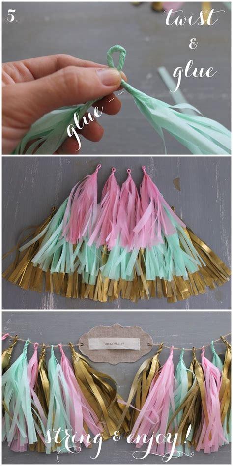 How To Make Paper Tassel Garland - no pl 225 stico carnaval 365 2lessplastic