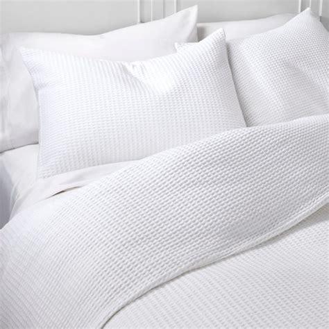 White Bedding Set Waffle Weave Duvet Cover Set The Industrial Shop Target