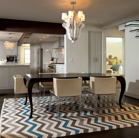 Living Dining Room Combo Decorating Ideas Chevron Pattern Craze How To Pull It Off At Home