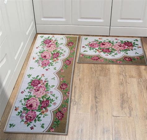 Vintage Kitchen Rugs 45 60cm Classical Vintage Kitchen Mats Durable Balcony Rugs Carpet For Washbasin In Mat From
