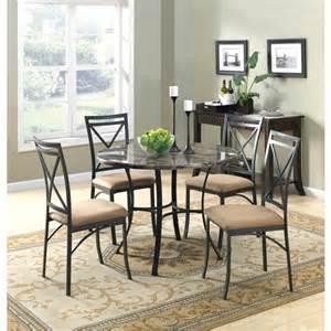 walmart mainstays 5 piece glass top metal dining set collections
