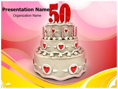 50th Wedding Anniversary Powerpoint Template Background Subscriptiontemplates Com 50th Anniversary Powerpoint Template