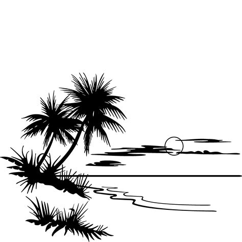 sunset clipart black and white clipart panda free