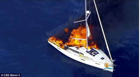 fire boat captain florida yacht catches fire before man was rescued daily