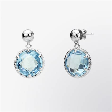 fifth bond blue topaz drop earrings
