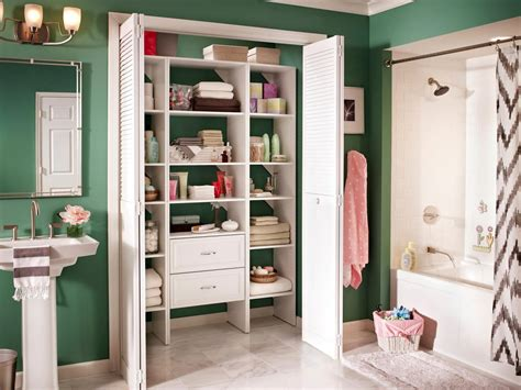 bathroom closet shelving ideas big ideas for small bathroom storage diy bathroom ideas