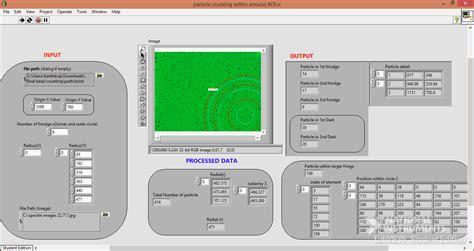 pattern matching tool program to count the particle and their coordinates inside