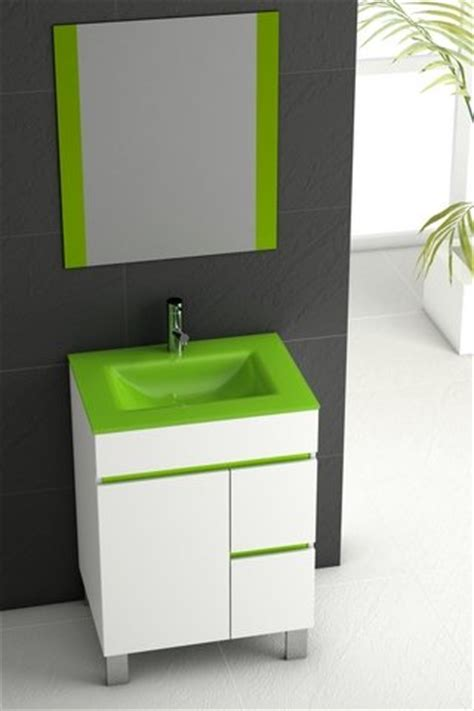 Modern Bathroom Green Eviva Evvn524 24ps Link 24 Inch Green Modern Bathroom