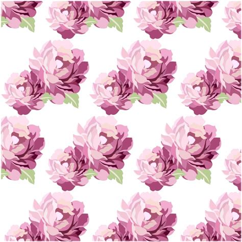 watercolor pattern with purple flowers vector free download purple watercolor flowers pattern background vector free