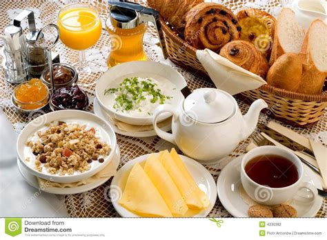 Breakfast Set Breakfast Set Stock Photography Image 4230382