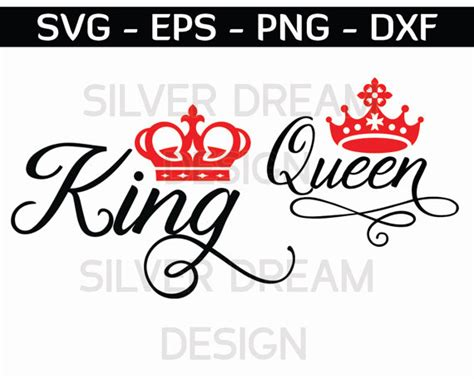 king and queen svg king queen shirts svg files couples