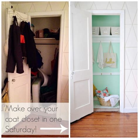 Diy Closet Makeover by Diy Coat Closet Makeover