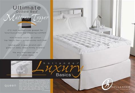 live comfortably cuddlebed mattress topper מוצר live comfortably cuddlebed down alternative