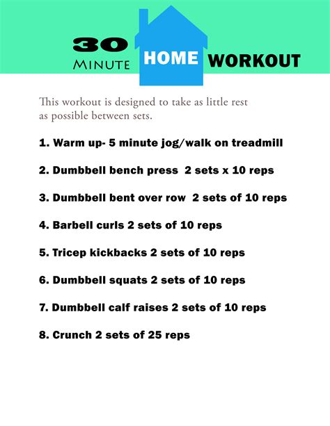 30 minute workouts to do at home day program